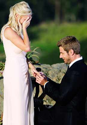 Bachelor Brad proposes to his soon-to-be wife, Emily