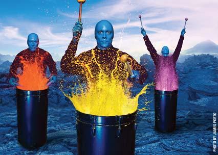 Photo courtesy of Blue Man Group
