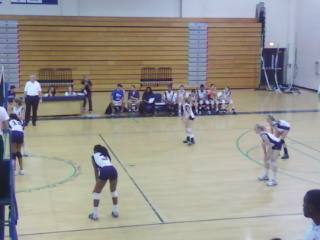 JV volleyball during the Sept 27 game. Photo courtesy of Helen Phillips