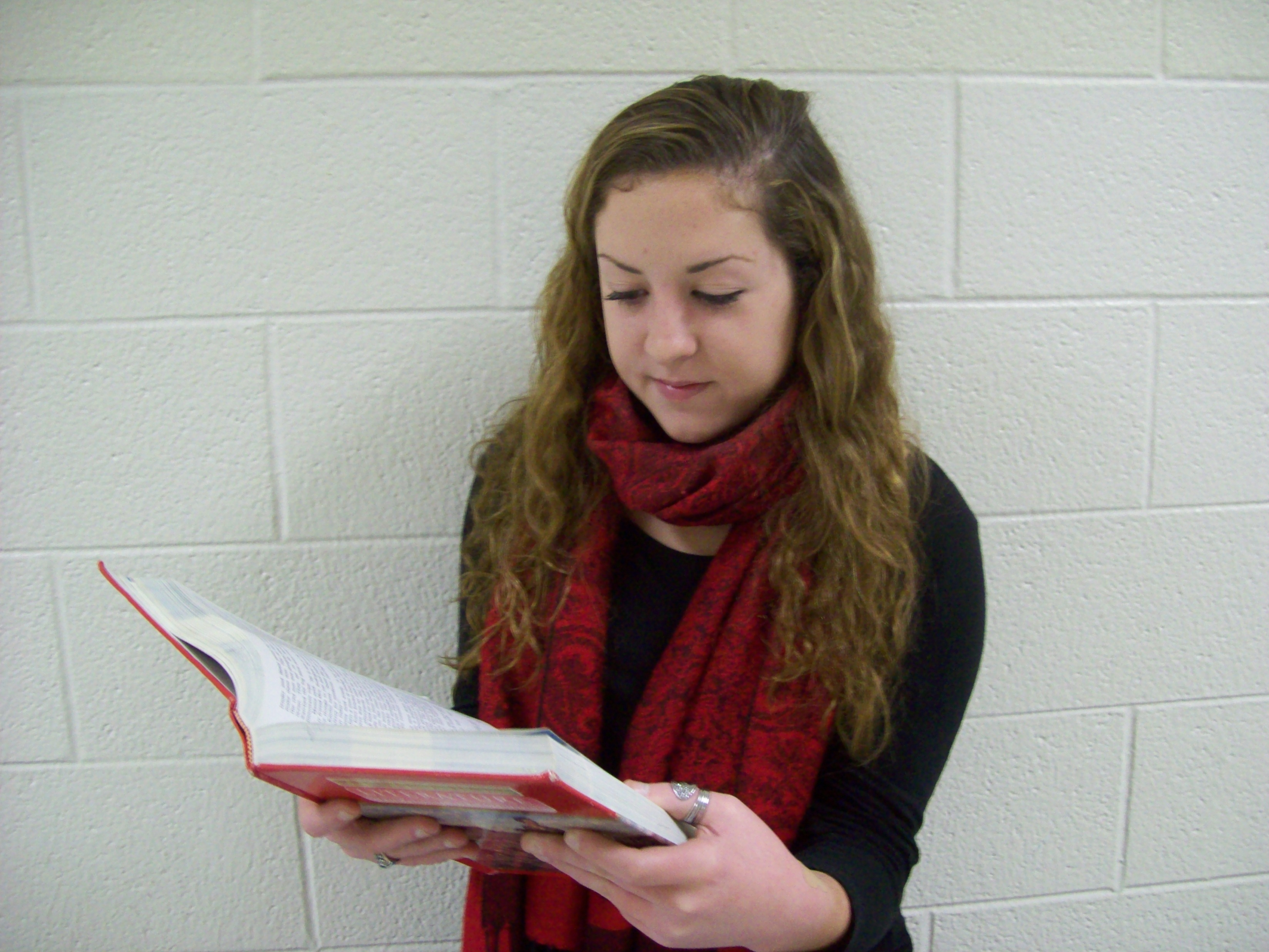 Aly Moser studies for French. She hopes to attend Governor's School this summer to enhance her intricate knowledge of the language.