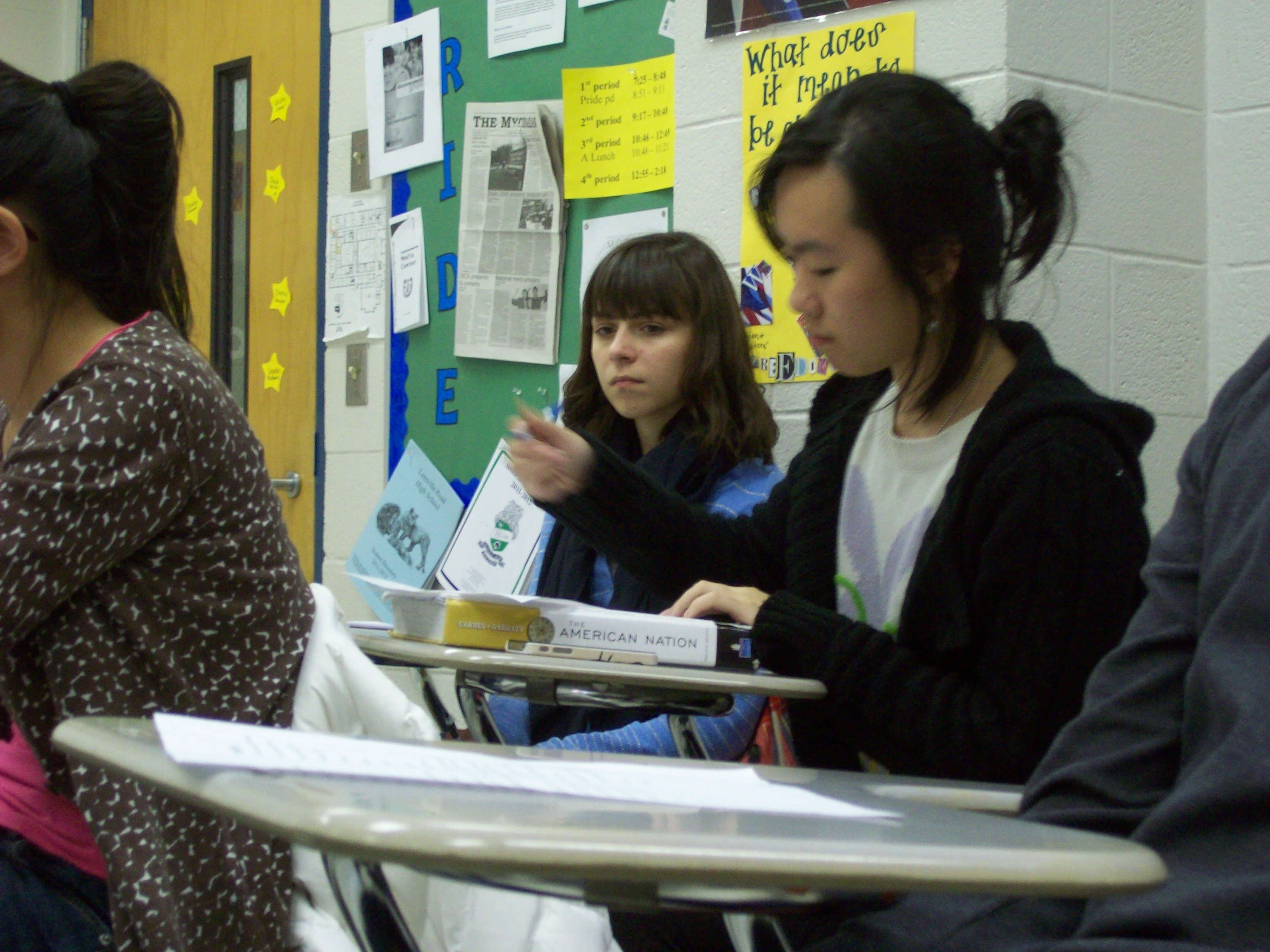 Donna Chow takes notes at the Model UN meeting. The club met on Thursday, Dec. 1 and plans to meet again Dec. 16.