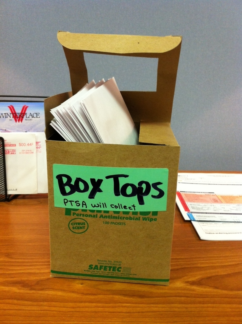 Leesville elementary, middle, and high schools are all working together to collect Box Tops. Students can bring their box tops to the front office to donate.