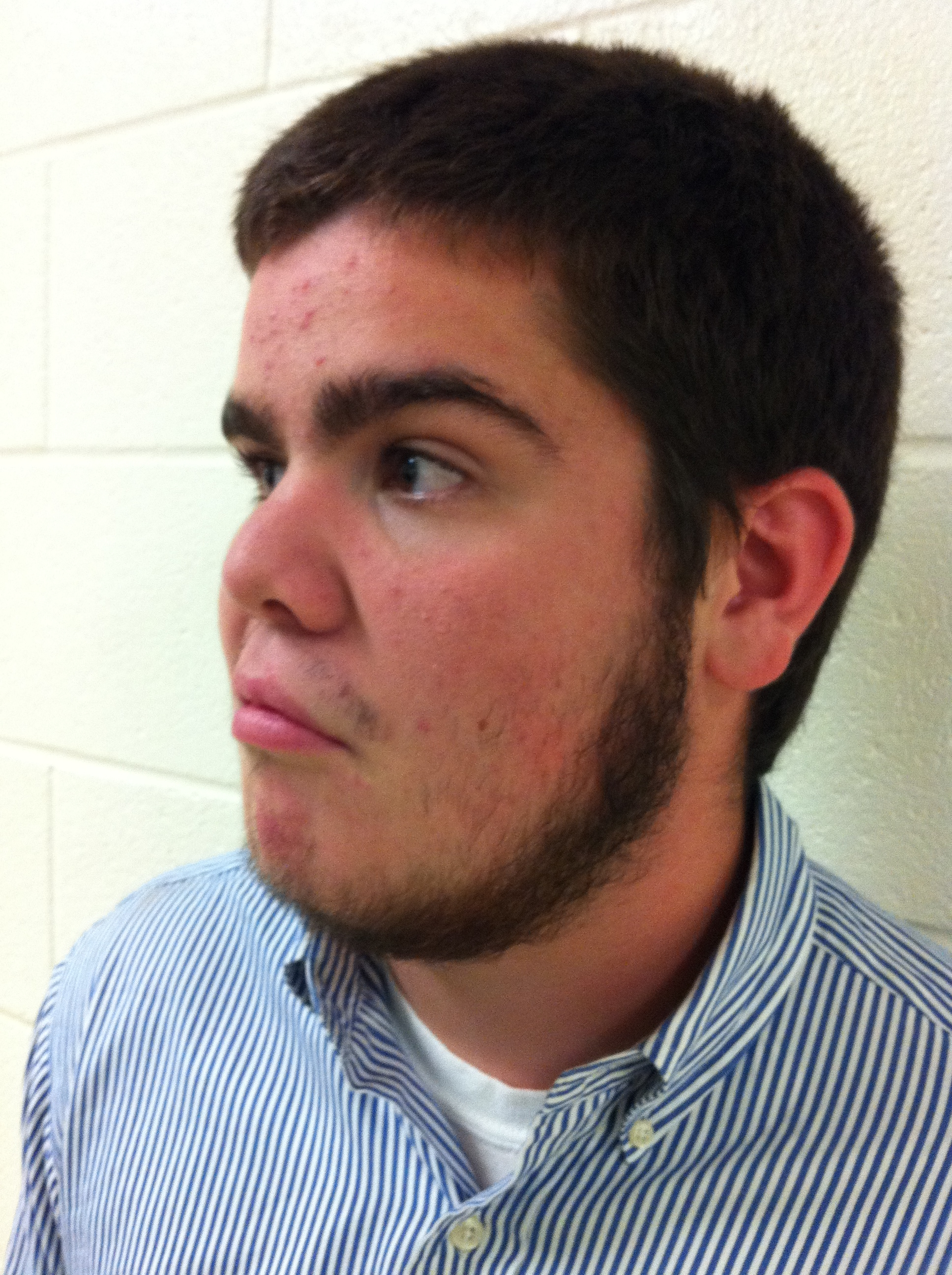 Alex Doane, sophomore, flaunts his burly beard. He, as well as other Leesville students, decided to participate in No Shave November. Photo courtesy of Hailey Stephenson.