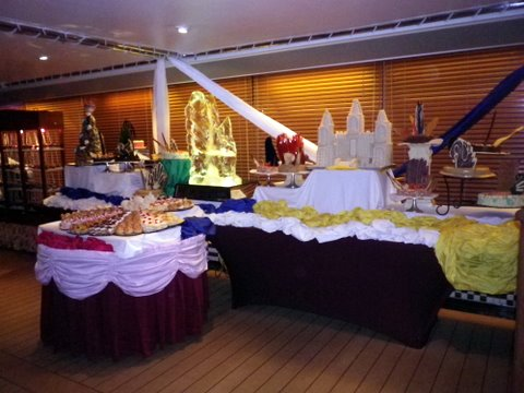 The Eurodam, a cruise ship on the Holland America Line, set sail from Fort Lauderdale on December 3, 2011.  The food on the ship was incredible, including the desert extravaganza, pictured above.
