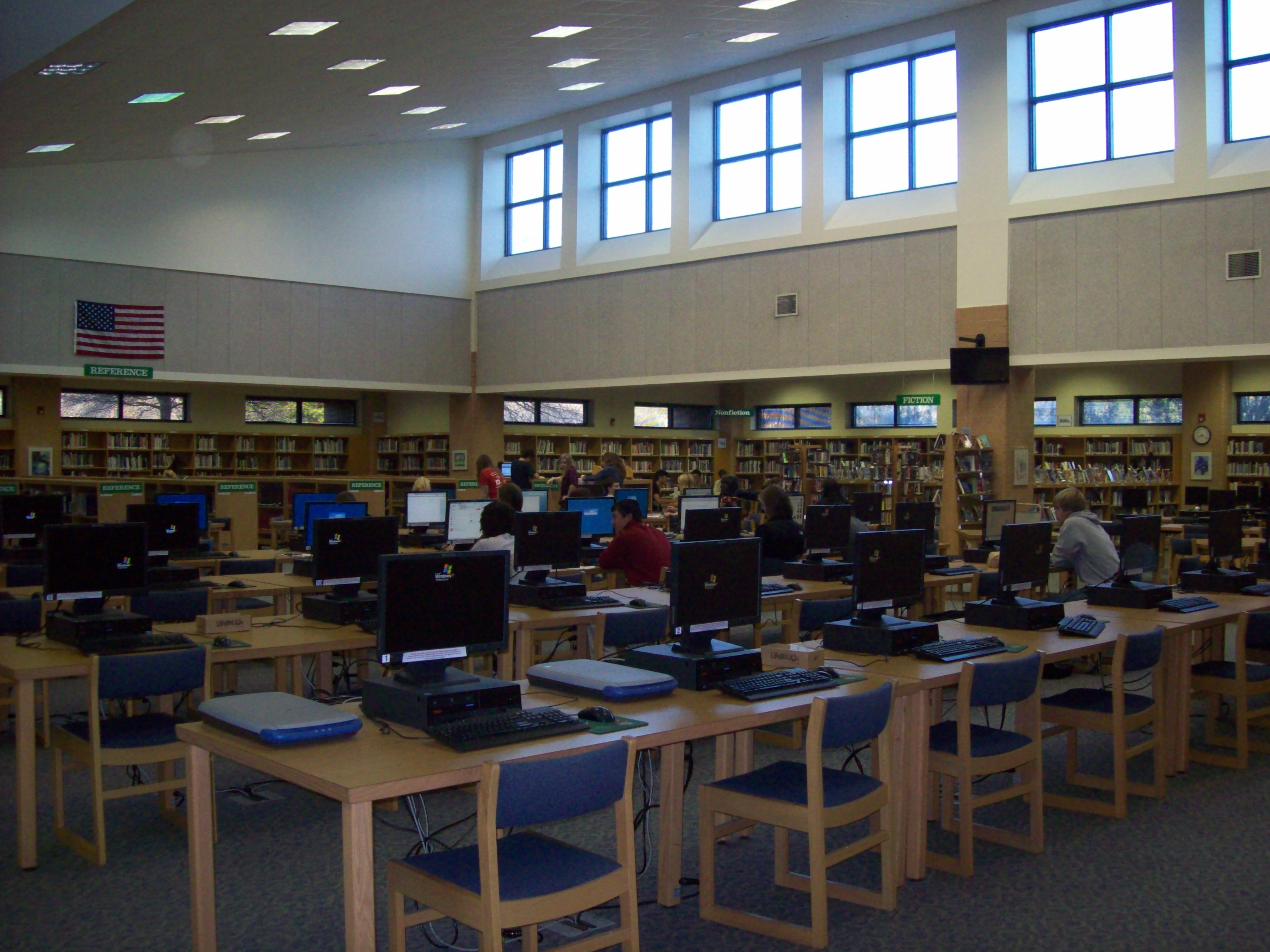 The Leesville Library is a great environment for learning. However, the library lacks a large variety of students.