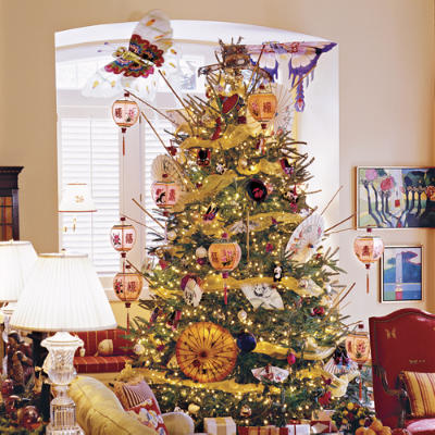 Each tree examplifies different values of a family during the holiday season. One values artificiality, the other accepting imperfections.