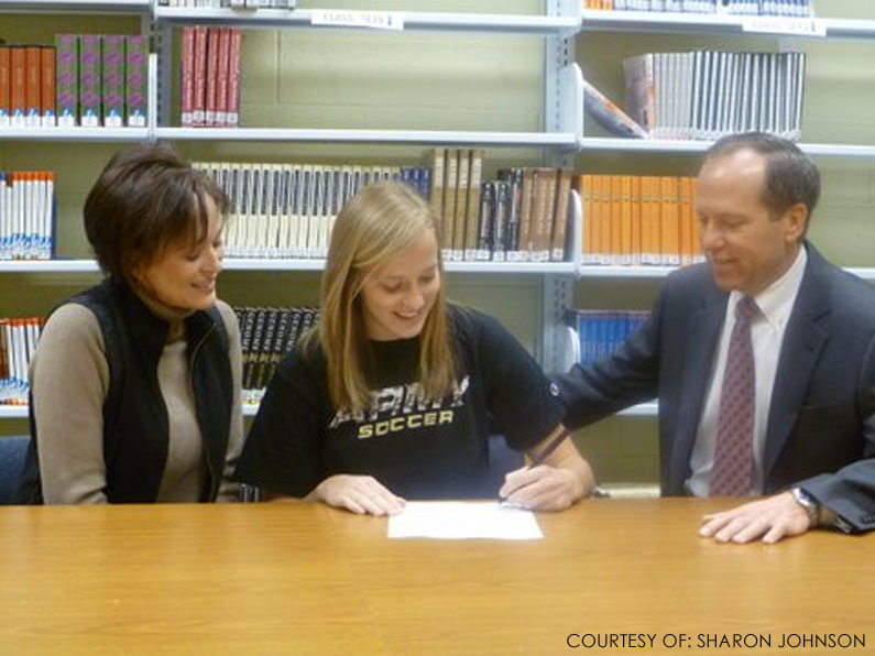 Courtney Johnson, senior soccer player, is signing her official commitment to West Point Academy on  National Signing Day. This is the last and biggest step of the whole recruiting process.