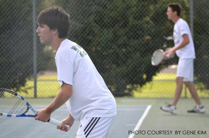 Nathan Wright, senior, practices hard to get ready for the season. Their first match is on February 28 against Enloe.
