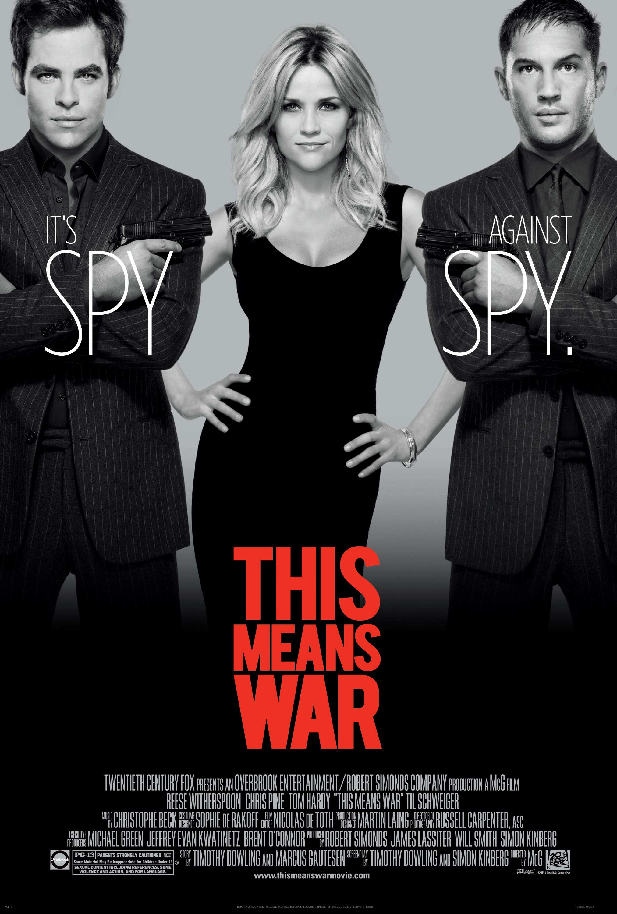 """""""This Means War"""" is the perfect date night movie. Directed by McG and starring Tom Hardy, Chris Pine and Reese Witherspoon, it is the perfect balance of action and romance."""