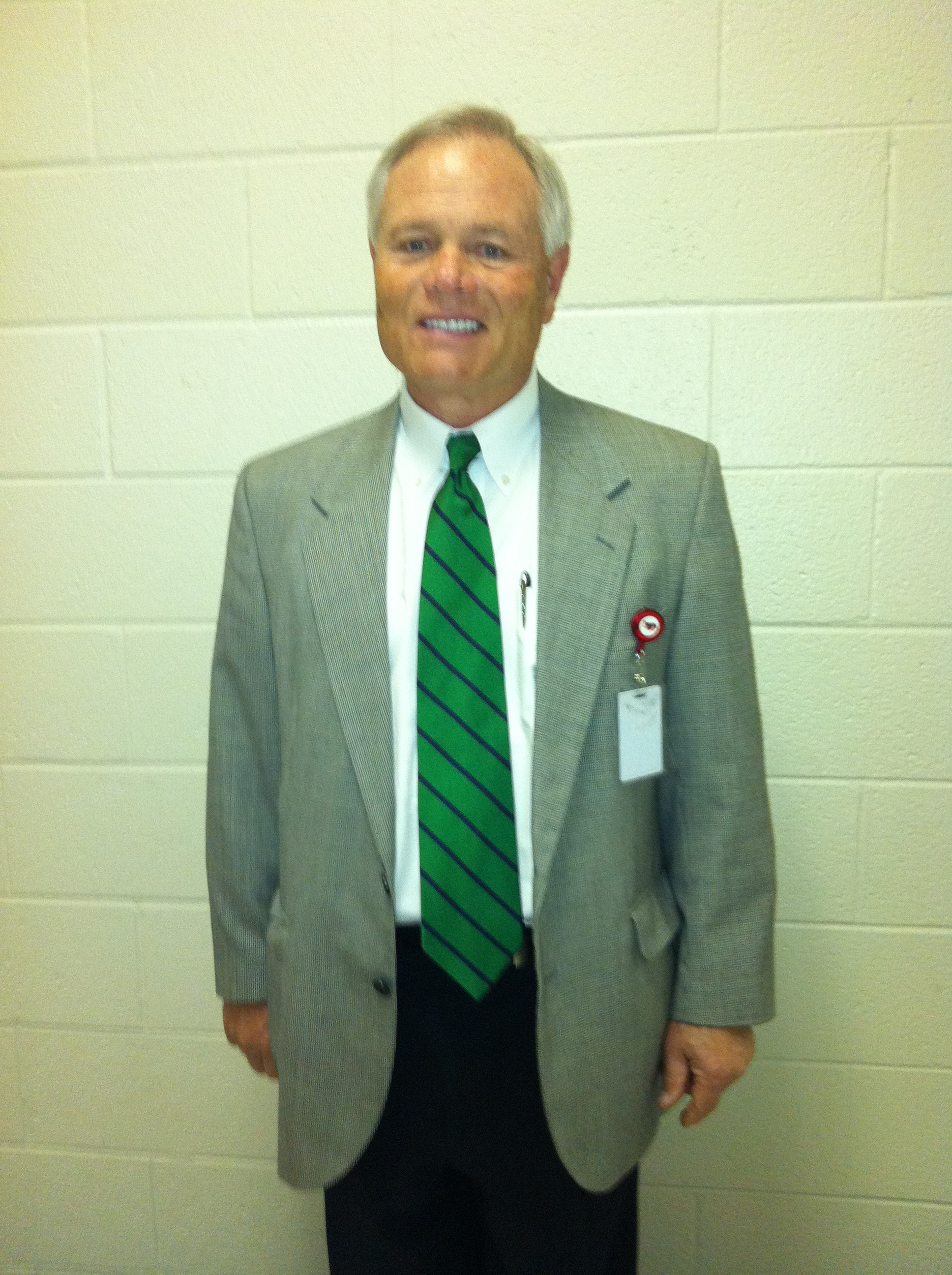 Dr. Dixon shows his Leesville spirit after only one day on the job. Before coming to Leesville Road, Dixon served as the interim principal at Middle Creek, Wake-Forest Rolesville, Reedy Creek Middle, and Carrol Middle.
