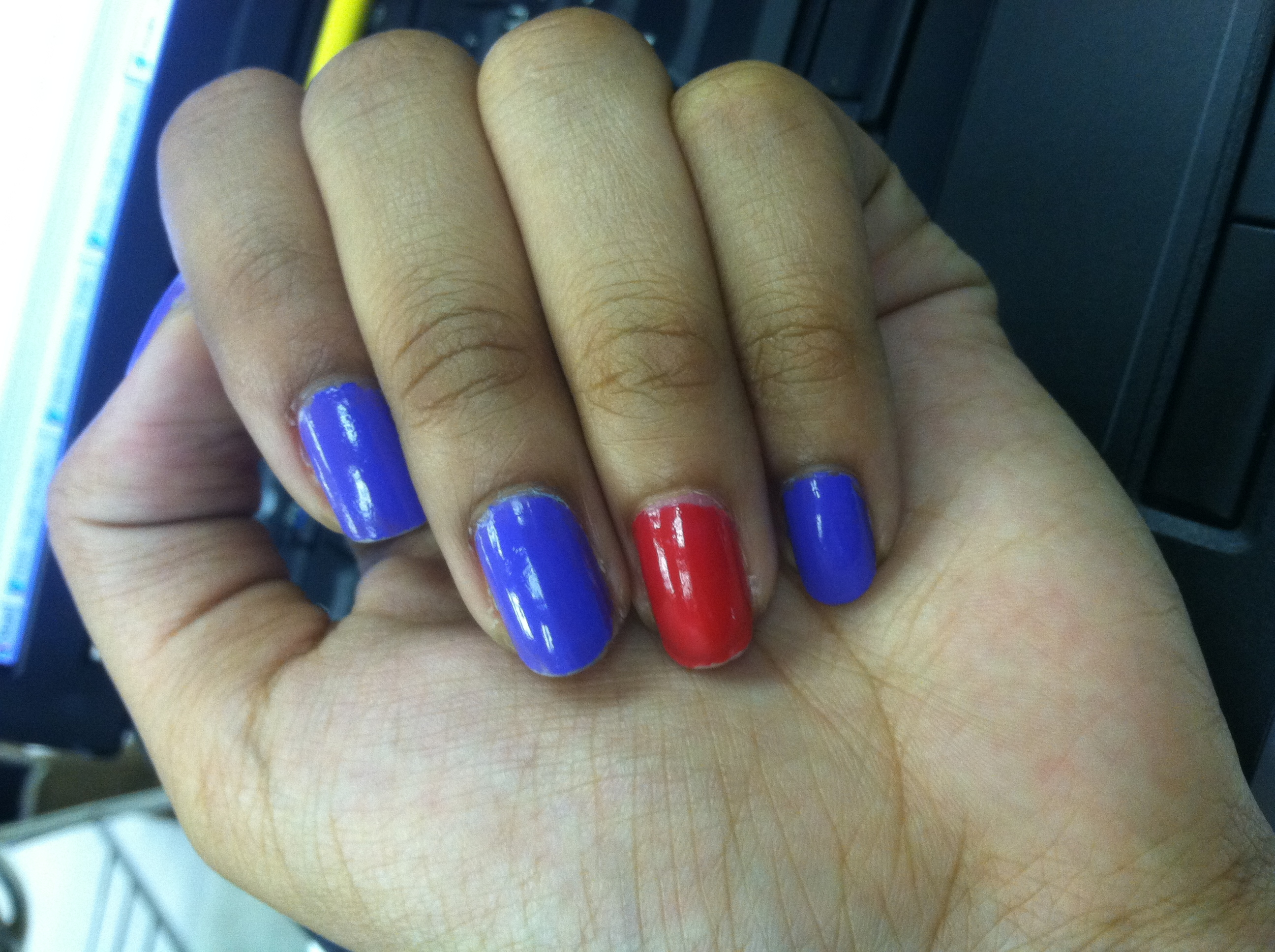 Colorful nails are a sure sign of spring. But when is there too much color?