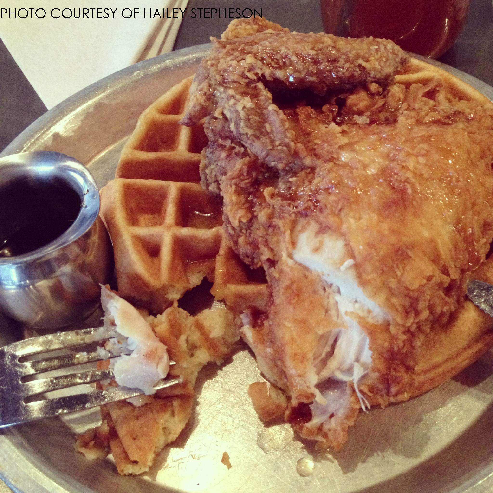 Just one of many delicious meals that can be found at Beasley's Chicken and Honey. The restaurant is not only famous for its fried chicken and waffles, their desserts are well sought after, too.