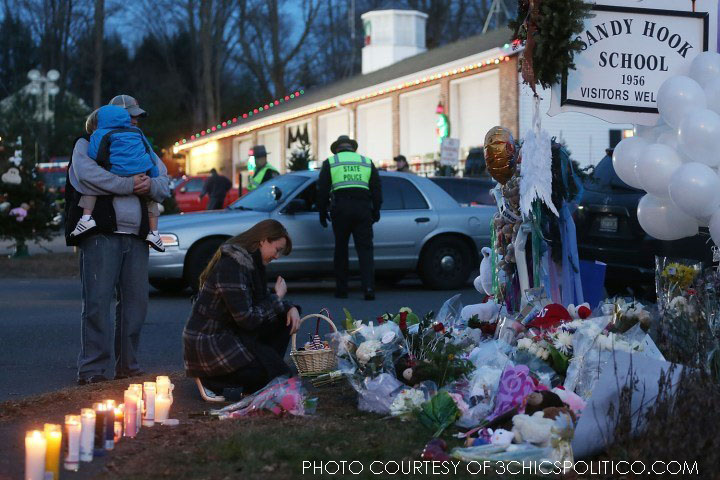 The day after the infamous shooting at Sandy Hook Elementary School in Newtown, CT, countless vigils were held outside the school. All in total, 28 people lost their lives on Friday, including 20 children.