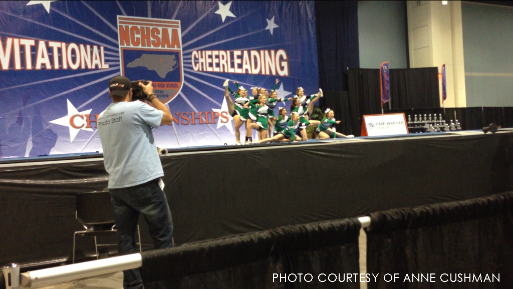 The Leesville cheerleading team won first place in the NCHSAA tournament on Saturday, Dec 8. The team had to overcome many obstacles before achieving this goal.