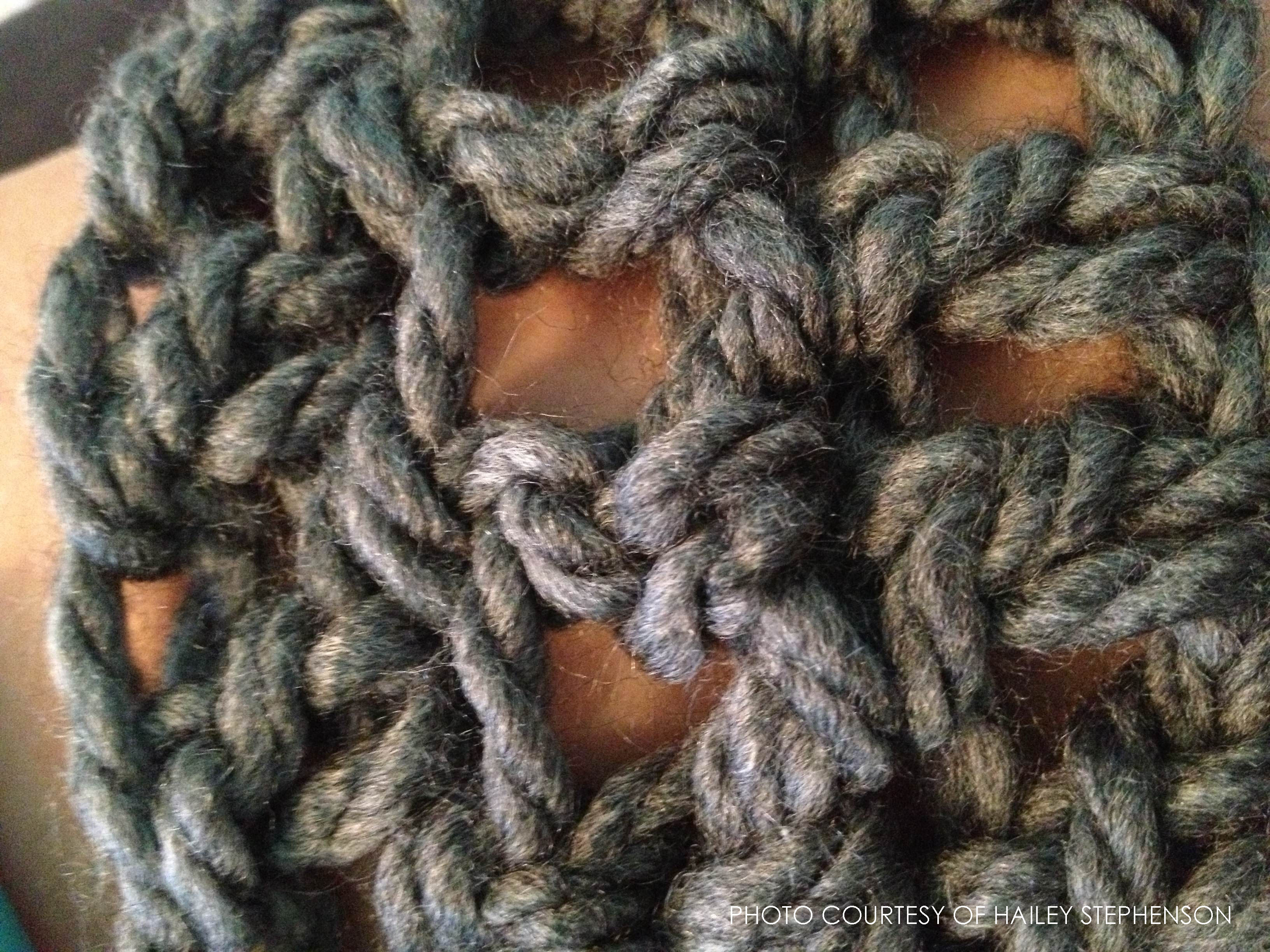 A picture of a typical crocheting pattern.