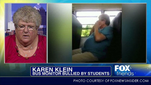Karen Klein was bullied to tears while working as a bus monitor on a middle school bus route. After a man created a donation site for her on Indiegogo, Klein received a check for over $700,000.