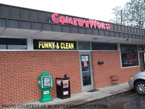 The ComedyWorx building is located in downtown Raleigh. As well as offering comedy shows, ComedyWorx also offers improv team building classes during the week.