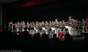 """The Symphonic Band put on an impressive performance and were able to uphold old traditions, such as """"Stille Nacht."""" The Symphonic Band is recognized for their composure and dignified presentation."""