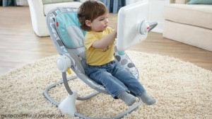 The Apptivity Seat by Fisher-Price features a stand and case for your iPad. Parents and professionals worry that the early childhood overexposure to Apple devices and other technology could have damaging effects on development.