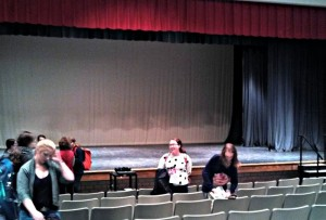The acting workshop was held in the auditorium. Many aspiring students take advantage of these opportunities to ensure confidence and readiness for the upcoming auditions