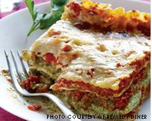 """Vegan lasagna is one of the many """"alternative therapies"""" offered at Remedy Diner. Though they do not accept reservations, the full bar offers a great place to wait for a table."""