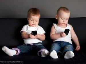 These kids most likely just began walking--or haven't at all--and are already absorbed in iPhones. Northwestern University conducted a study that was released this past June. It revealed that 21% of children aged two years old or younger have a television in their bedroom.