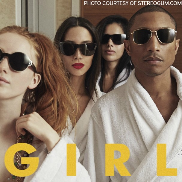 "After a wildly successful 2013 year, Pharrell Williams has made yet another musical debut.  The Grammy award winning artist released his new album G I R L on March 3.   G I R L is Williams' first solo album since his release of In My Mind in 2006. More recently, Williams appeared on award winning tracks like ""Get Lucky"" by Daft Punk and ""Blurred Lines"" by Robin Thicke. These popular tracks helped earn back a lot of Williams' popularity, giving him the foundation for a successful album release.  After hearing about Williams' new album, I decided to listen to G I R L to see what all of the hype was about. Not surprisingly, the album exceeded my expectations.   G I R L features eleven tracks, all of which echo the influences of Earth, Wind, and Fire and Marvin Gaye with their 70's-funk. To add an original flare, modern background beats and instruments work their way into most of the songs. The two styles of music combine to produce a sound different from that found on most of the R&B/pop albums on iTunes. The album also features collaborations from Miley Cyrus, Daft Punk and Justin Timberlake.   G I R L's 70's-mod theme carries throughout the entirety of the album, making its appearance on slower songs like ""I Know Who You Are,"" as well as the more upbeat songs like ""Happy,"" the album's leading single.  Some of the songs on Williams' album--like the opening track, ""Marilyn Monroe--"" even incorporate orchestral components. After doing a little more research on G I R L, I learned that Williams collaborated with Hans Zimmer, a Grammy award winning composer best known for his score for The Lion King. Zimmer has also orchestrated movies like Inception and The Amazing Spiderman. Knowing that Williams teamed up with Zimmer only reassures the fact that G I R L is a quality album.   For those who embody an old soul and appreciate the musical stylistics of Stevie Wonder and Michael Jackson, I highly recommend Williams' album G I R L. It is truly an excellent album, embracing both simplicity and class through its carefully composed melodies."