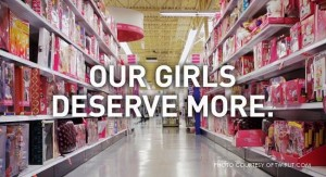 GoldieBlox's message asserts that 'our little princesses' are much more than beauty queens. In 'disrupting the pink aisle', girls are inspired to use their minds to solve problems and have fun while doing so.