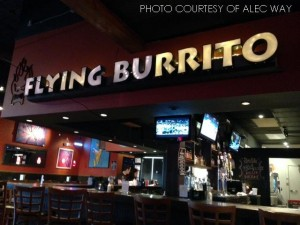 Flying Burrito is a local Mexican restaurant beside Raleigh Grande. It offers a refreshing atmosphere and a unique spin on Southwest cuisine as compared to the larger chains.