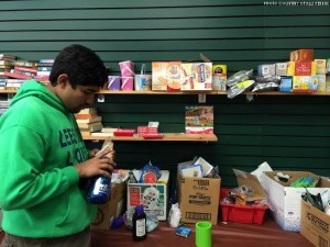 Shafwat Islam, junior, was one of the Leesville volunteers who participated at Back Home Box. This non-profit organization collects everything from food to toiletries and sends them overseas to our soldiers.