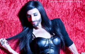 Thomas Neuwirth, known as Conchita Wurst, Austrian Eurovision contender, poses dramatically in female drag. Wurst has overwhelmingly won the singing competition Eurovision, which is inspiring as an openly gay, genderqueer drag queen.