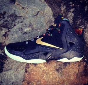 Leaked photos of The LeBron 11 Watch the Throne sneakers. There is no scheduled release date yet, but it's one of the most anticipated LeBron colorways.