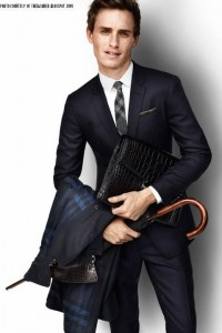 Along with acting and singing, Eddie has also participated in modelling. This picture is from a photoshoot for Burberry, a clothing and accessory company who tends to feature English actors.