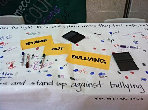 "October is National Bullying Prevention month. Students could take a ""pledge against bullying"" on Wednesday, October 8."