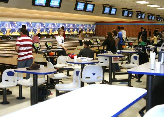 Buffaloe Lanes North Bowling, where the team trains sometimes.