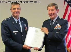 On August 29th, the retirement ceremony for Lt Col. Pete Oertel took place at Duke University.