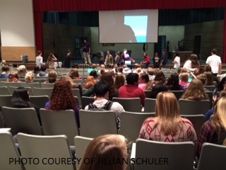 The Key Club meeting was held inside Leesville's auditorium. The well organized room is perfect for the large amount of students that make up Key Club, one of the biggest clubs at school.