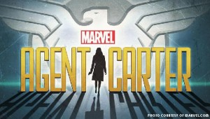 Agent Carter's silhouette can be seen in the center of the photo, with the SSR's logo in the background. Marvel does well to make it know that the show isn't about any mindless males, but just Peggy Carter.