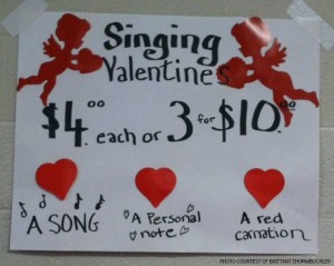 With Valentine's Day quickly approaching, the Leesville chorus students are busy preparing their songs and selling their cute and catchy singing valentines in order to raise money for the chorus program. The singing valentines will be distributed Thursday, February 12.