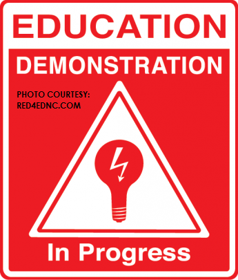This is the logo created by teachers participating in Red4EdNC. T-shirts with this logo are available to be purchased on their website.