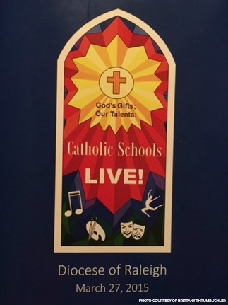 Students from Catholic schools across North Carolina spent the past few months preparing for their Catholic Schools Live! performance which took place on Friday, March 27. The performance was comprised of multiple talents including acting, singing and dancing.