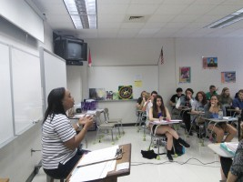 AP English IV, shown here, may not be available to some seniors if S.B. 561 passes the House. According to WCPSS' 2014 Yearly Report Card, 86% of Leesville students are eligible for AP or honors classes, but that could soon change with the proposed legislation. (Photo courtesy of Michael Beauregard.)