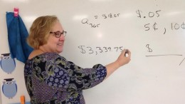 Mrs. McNally teaches arithmetic equations to her fourth period Math III Honors class. McNally's goal is for her students to be challenged, think critically and be successful. (Photo Courtesy of Jonathan Spear).
