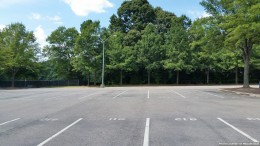 A section of unsold, unused spots in the student parking lot. Unless Wake County starts funding its driver's education program soon, those spots may be empty for all of next year.