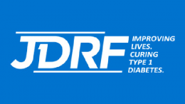 The JDRF's logo. JDRF was founded in 1970, and its primary function is to help people with type 1 diabetes through research and treatment.