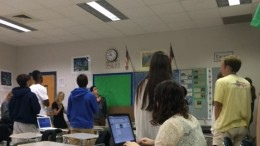 Every day during second period, students stand to say the Pledge of Allegiance. It is reminded before hand that the students are not required to say the pledge, a right however that is limited by school's social pressures of conformity.