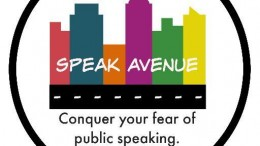 Above is the Speak Avenue logo. The Raleigh-native company was built to help students in the surrounding area conquer their fear of public speaking.