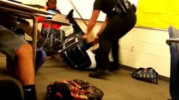 A screenshot from a video taken of the student-officer interaction in South Carolina in October. This video sparked controversy on how physical officers are allowed to be. (Photo creds: Shaun KIng)