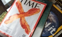 "One of TIME magazine's most recent publication features strips of bacon across the front page with the title, ""War on delicious."" Featuring the study in a famous publication draws attention to the issue however, the result from the issue don't tell us anything revolutionary."