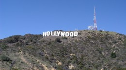 Hollywood sign in Los Angeles, California. Hollywood is known as the home of the American film industry.  (Photo courtesy of wikipedia.org)